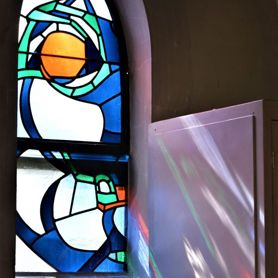Glas in lood bij de Paters