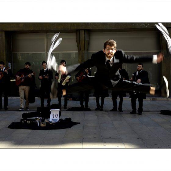 Straatmuzikanten en de vlucht