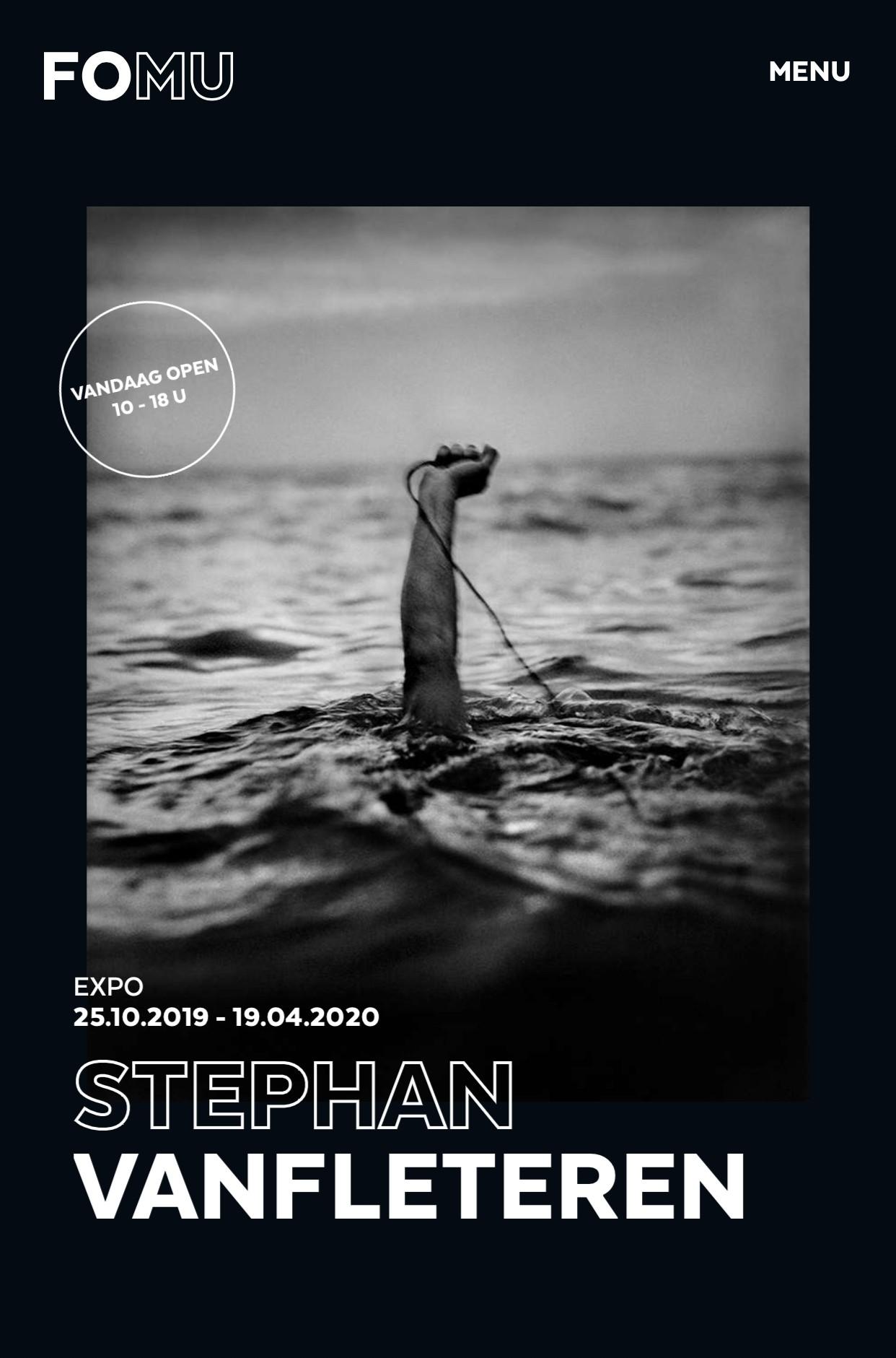Overzicht tentoonstelling            Stephan Vanfleteren Antwerpen